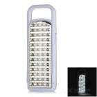 52-LED White Light Handheld Camping Lamp - White + Grey