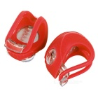 3-Mode 2-Red-LED Snake Light Bicycle Lights - Red (2*CR2032 / 2PCS)