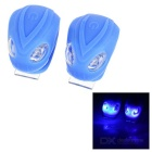 3-Mode 2-Blue-LED Snake Light luzes de bicicleta - Azul (2 * CR2032 / 2PCS)