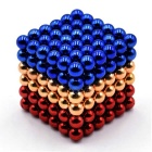 5mm Puzzle Magnetic Beads - Sapphire Blue + Gold + Red (216PCS)