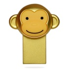 Cartoon Metallic Monkey Style USB 2.0 Flash Drive - Golden (16GB)