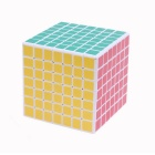ShengShou 7x7x7 69mm Magic IQ Cube - White + Multicolor
