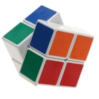 ShengShou 2x2x2 White Background Smooth IQ Cube - White + Multi-Color