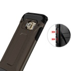 SAMDI TPU + PC Back Case + Earphone for Samsung Galaxy S7 Edge - Black