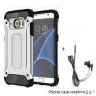 SAMDI TPU+PC Back Case + Earphone for Samsung Galaxy S7 Edge - Silver