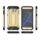 TPU Back Case + Earphone for Samsung Galaxy S7 - Golden