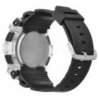 Unisex Resin Watchband Digital Sports Watch - Black (1 * 2016)