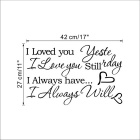 I Love You Mots anglais Autocollants en PVC Stickers muraux - Noir