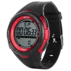 Unisex Fashionable Sports Quartz Wrist Watch - Red