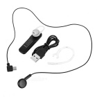NT6 Simple Bluetooth V4.1 Ear-Hook Earphone - Black + Silver