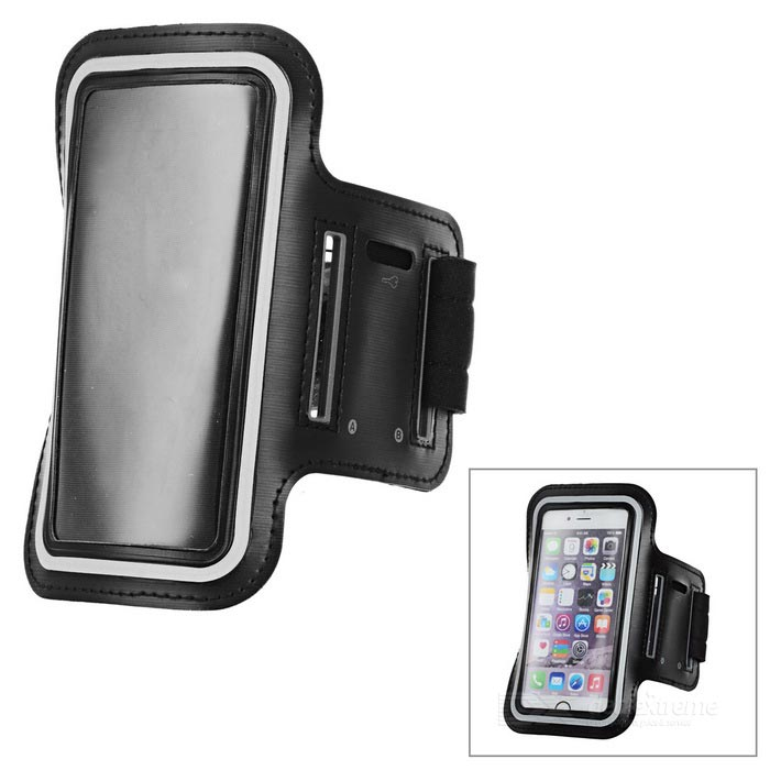 "Outdoor Sports Arm Bag / Armband Case for 4.7"" and Below Phone - Black"