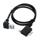 CY USB 3.0 A to Micro B Right Angled Locking Screws Panel Cable