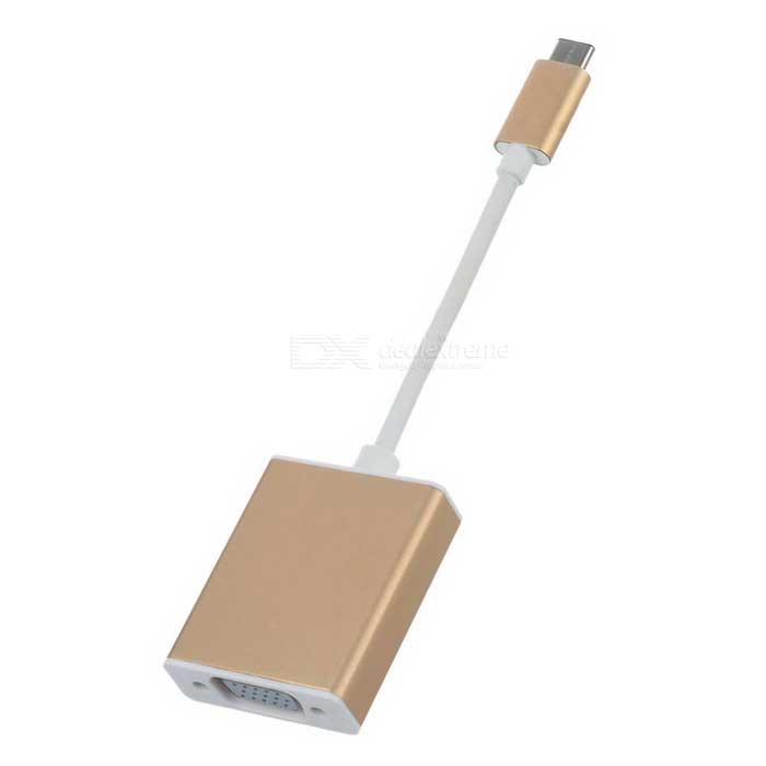 CY U3-317-GO USB-C USB 3.1 Type C to VGA Cable - Rose Gold (20cm)
