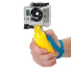 Floating Grip Handle Mount for GoPro Hero 4 / Xiaoyi - Yellow