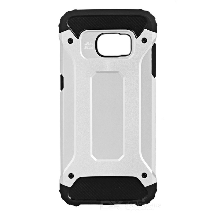 SUNGZU Armor Case for Samsung Galaxy S7 Edge - Black + Silver Grey