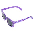 Fashionable Mosaic Grid Style Unisex Sunglasses - Purple + Black
