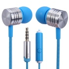 EF-E4 3.5mm In-Ear Stereo Bass Earphone w/ Mic. Handsfree Call - Blue