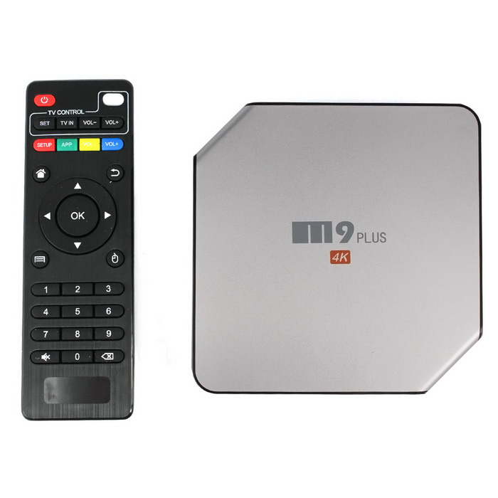 M9 Plus 4K Media Player com 2GB de RAM, 16GB ROM - Prata (US Plugs)