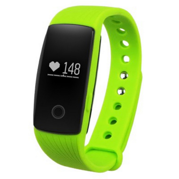 ZS107 Green Light LED Bluetooth V4.0 Smart Bracelet - GreenSmart Bracelets<br>Form  ColorGreenModelZS107Quantity1 DX.PCM.Model.AttributeModel.UnitMaterialABSShade Of ColorGreenWater-proofOthers,Daily water resistantBluetooth VersionBluetooth V4.0Touch Screen TypeNoOperating SystemNoCompatible OSAndroid 4.4 and above<br>iOS 7.1 and aboveBattery Capacity70 DX.PCM.Model.AttributeModel.UnitBattery TypeLi-polymer batteryStandby Time360 DX.PCM.Model.AttributeModel.UnitOther FeaturesFunctions: Alarm Clock, Avoid losing phone, Call reminder, Calories burned measuring, Camera remote control, Distance recording, Measurement of heart rate, Pedometer, Sedentary reminder, Sleep management<br>Alert type: Vibration<br>Main control chip: Nordic nRF51822 <br>Sensor: kionix kx022-1020<br>Heart rate sensor: Silicon labs Si1142<br>Ultra long standby time with low power consumption: &gt; 15 daysPacking List1 x Smart bracelet1 x Charging cable (30cm)1 x Chinese / English user manual<br>