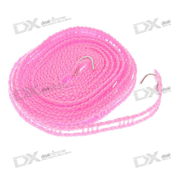 Nylon Clothes Line/Washing Line with Stainless Steel Hooks - Pink (5M-Length) craftsman automatic feed spool with nylon line replacement 71 85942