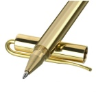 FURA Outdoor Tactical Mirror Surface Brass Gel Pen w/ Clip - Golden
