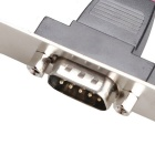 DIEWU COM to DB9 RS232 Serial Port Baffle Line w/ PCI Bracket - Silver