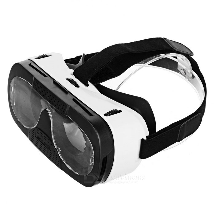 "3D VR Box Video Glasses for 4.0~6.0"" Smartphones - White + Black"