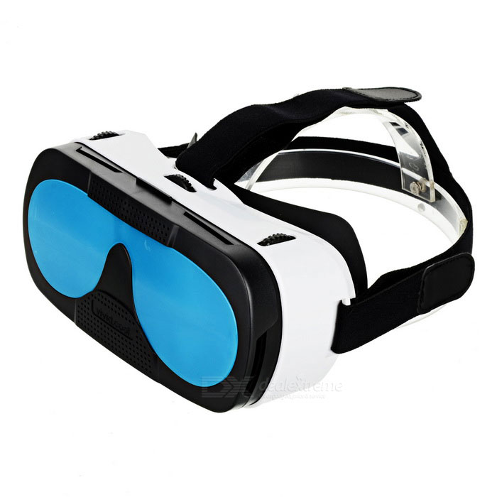 "3D VR Box Video Glasses for 4.0~6.0"" Smartphones - White + Blue"