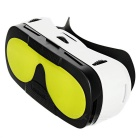 "3D VR Box Video Glasses for 4.0~6.0"" Smartphones - White + Yellow"