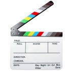 Dry Erase Director Film Movie Clapper Board - White + Black