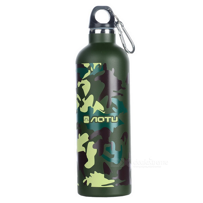 AOTU AT6647 Outdoor Cycling Vaccum Cup Water Bottle - Green (600ml)