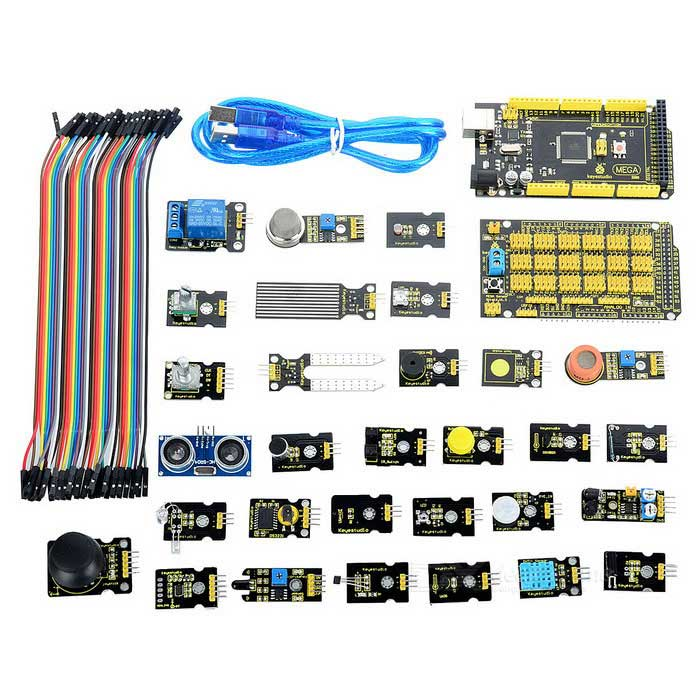 Keyestudio New Sensors Learning Kit for Arduino - Black + Yellow