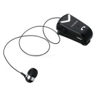 Fineblue F-V2 Clip-on auriculares BT con cable retráctil - Negro + Plata