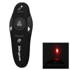 USB RF Wireless Presenter with Laser Pointer for PC/Laptop - Black (10-Meter Range)
