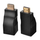 RJ45 Female to HDMI Male Network Signal Adapters - Black (2 PCS)