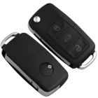 Qook Entry Key Remote Fob Shell Case w/ 3 Button for VW - Black