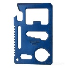 Multi-Function Carbon Steel Tool Knife Card - Blue
