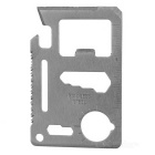 Multi-Function Carbon Steel Tool Knife Card - Silver