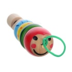 Caterpillar Style Wooden Trumpet Whistle Toy - Green + Red