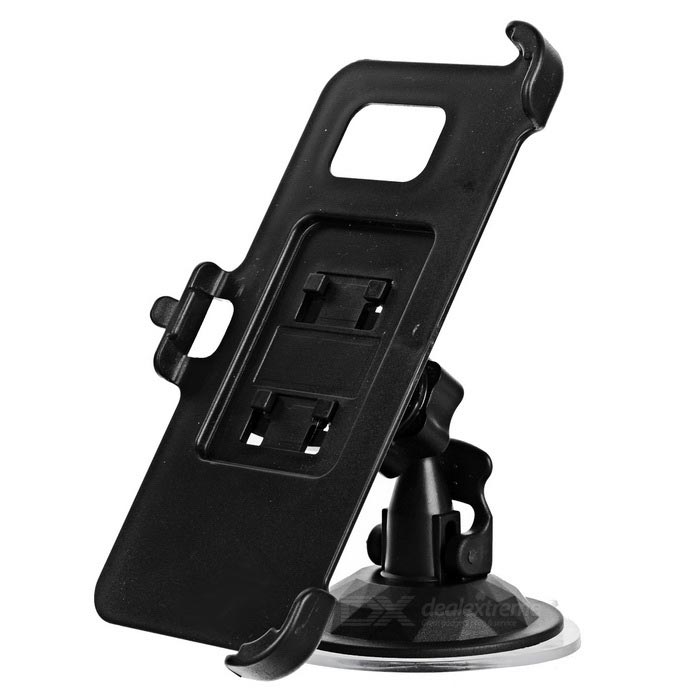 Mini Car Mount Holder + Back Clip for Samsung Galaxy S7 Edge - Black