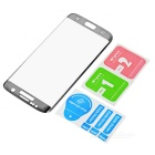 Tempered Glass Screen Protector for Samsung Galaxy S7 Edge - Dark Grey