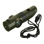 AoTu 7-in-1 Multi-Function Outdoor Survival Whistle - Army Green