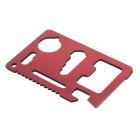 Multi-Function Carbon Steel Tool Knife Card - Red