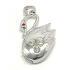 SAMDI Swan Shaped Keychain Style USB 2.0 Flash Drive - Silver (8GB)