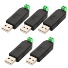 USB to RS485 Converter Adapters for Laptops - Black + Green (5PCS)