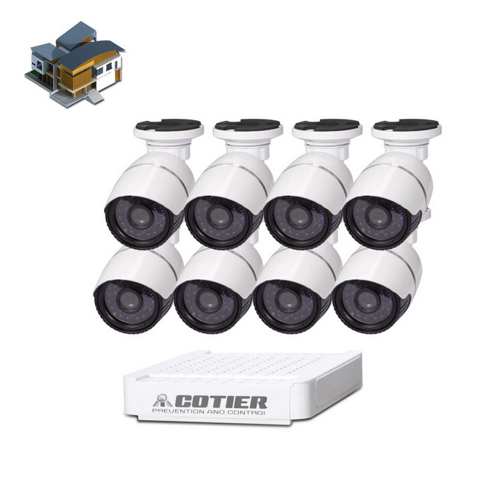 Cámara IP cotier N8B-Mini / L 2MP ONVIF IR Cut HD NVR - Blanco (enchufe de la UE)