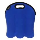 Hugmania 3-Slot Beer Baby Bottle Can Beverage Wine Storage Bag - Blue
