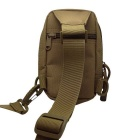 677 Outdoor Mini Cycling Nylon Shoulder Chest Bag - Tan (20L)