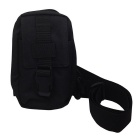 677 Outdoor Mini Cycling Nylon Shoulder Chest Bag - Black (20L)
