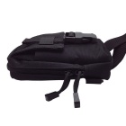 677 Outdoor Mini Ciclismo Nylon Shoulder Peito Bag - Black (20L)